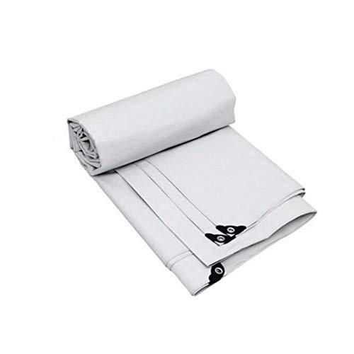 GG-tarpaulin Toile de bâche imperméable Protection Contre Le Soleil en Plein air Étanche au Vent, Anti-poussière, Anti-oxydation Résistant à l'usure, Epaisseur 0.32mm, 175G / M², Taille 9, Blanc-2x3m