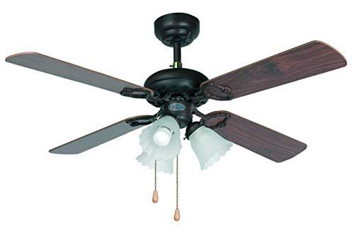 Faro 33102 - LISBOA Ventilatore da soffitto marrone, metallo