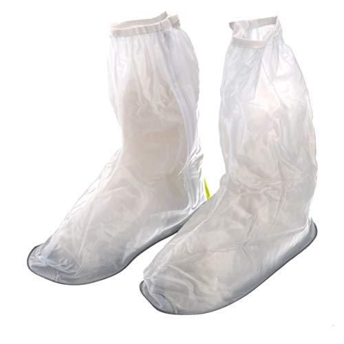 Garneck Überschuhe Hygieneschuhe Überschuhe Schuhüberzüge für Medizinische Kleider Isolationskleid Isolationsanzug Größe M (Weiß)