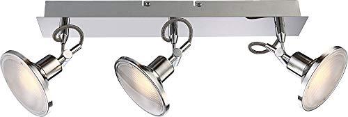 LED plafondspots gang woonkamer aluminium plafondlamp vloerlamp (plafondlamp, 3 spots, keukenlamp, 44 cm, 3 x 5 Watt, warm wit)