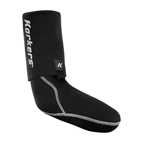 Korkers i-Drain Neopren Guard Socke, Schwarz, Medium
