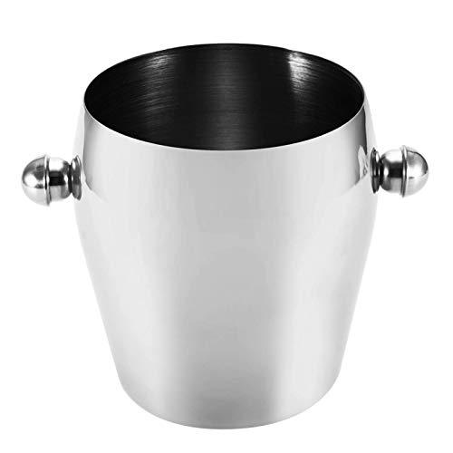 ROSG Cubo de Hielo para la Barra de cócteles, Accesorios de barbeta de Hielo de Doble Pared Durabilidad Durabilidad para el hogar para la Cocina para la Barra (3L)