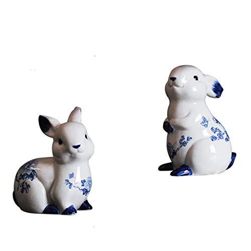 NYKK Ornamento de Escritorio Conejo de cerámica del Ornamento Estatua Manualidades for el hogar decoración de la Oficina, Mesa de Cocina Centros de Mesa artesanías decoración