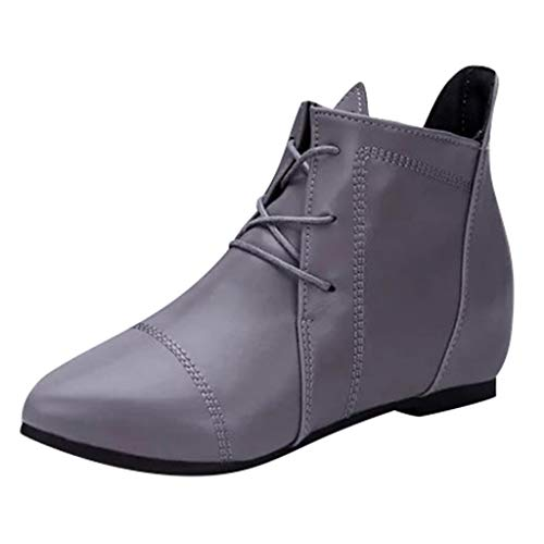Dorical Damen Standard- & Latintanzschuhe Tanzschuhe Dance Boots Damenschuhe Bequem Übergroße Damenstiefel Schnürhalbschuh Gr 35-43(Grau,40 EU)