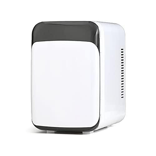 Mini refrigerador, refrigerador compacto de 8 litros más frío y caliente con alimentación de CA / CC, refrigerador portátil ideal para el cuidado de la piel, alimentos, medicamentos, leche materna,