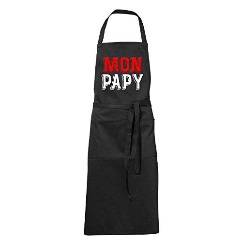 stylx design Tablier humoristique de cuisine noir MON PAPY