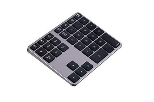 EKYJ Teclado numérico portátil Nuevo Receptor de Tipo-C de Bluetooth inalámbrico 18 Teclas 2.4G Número numérico Número de Teclado Almohadilla for Apple Mac-Libro 30 para laptops (Color : Black)