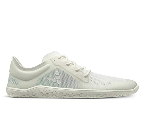 Vivobarefoot Primus Lite Ii Recycled, Womens Vegan Light Movement Breathable Shoe with Barefoot Sole Bright White