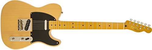 Fender 6 String Solid-Body Electric Guitar, Right Handed, Butterscotch Blonde (303027550)
