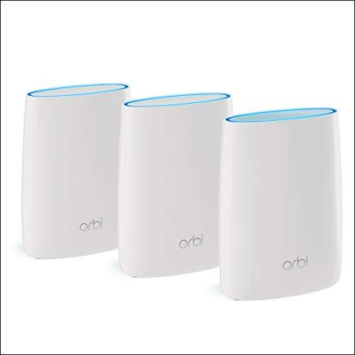 Netgear Orbi RBK53 - Sistema WiFi Mesh tribanda AC3000, cobertura...