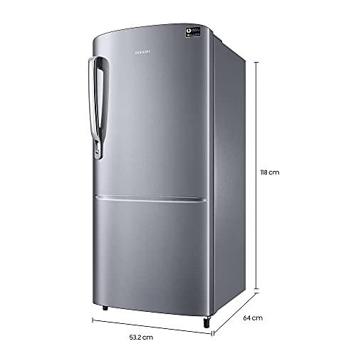 Samsung 192 L 3 Star Inverter Direct-Cool Single Door Refrigerator (RR20T172YS8/HL, Elegant Inox) 2