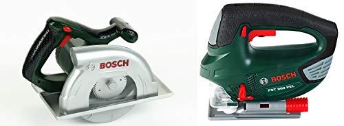 Theo Klein 8421 - Bosch Kreissäge, Spielzeug & Klein 8379 - Stichsäge Bosch II