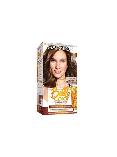 Garnier Tinta Capelli Belle Color, Colore Luminoso e Riflessi Naturali, Copre il 100% dei capelli bianchi, Castano Chiaro Dorato Naturale