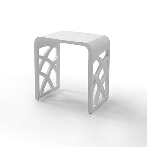 KZOAO Design Kunststein Badhocker/Duschhocker/Sitzhocker aus Mineralguss variabel einsetzbar Modell 7, Oberfläche:Matt