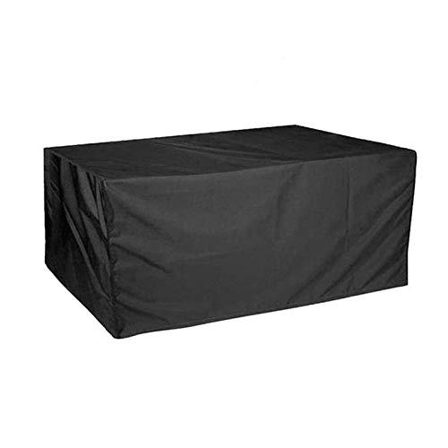 AWSAD Cubiertas para Muebles al Aire Libre, Cubiertas para Muebles de Patio Oxford 210D Cubiertas Impermeables para Muebles al Aire Libre (Color : Negro, Size : 315x160x74cm)