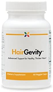 HairGevity Formula - Advanced Support for Healthy, Thicker Hair - Stop Aging Now - 60 Veggie Caps