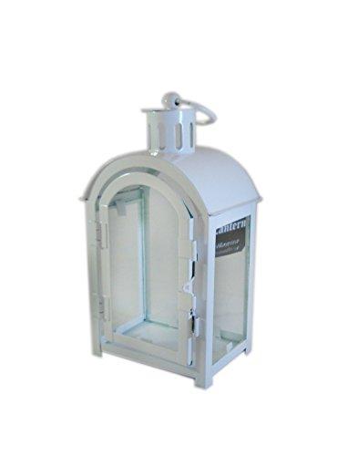 Lanterne en métal dôme blanche grand – Porte bougie chauffe-plat tea Candle 20 cm
