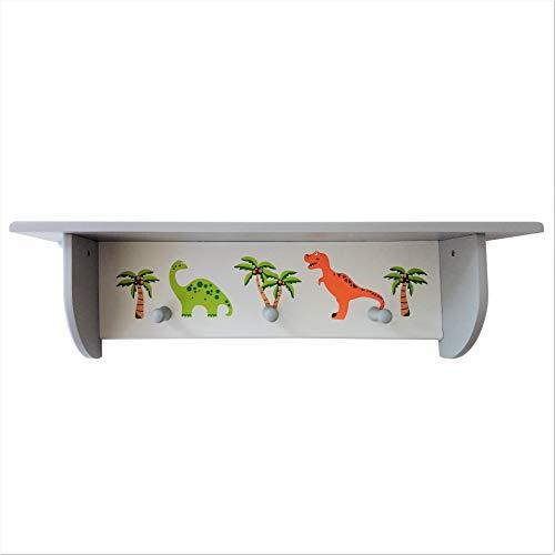 Sparks Dinosaur Wandplank met drie hangers