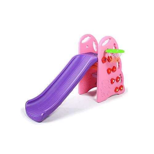 MDHDGAO Actualizado Pequeño Escalador de Diapositivas niños de Diapositivas del niño Interior y Exterior,Independiente de Diapositivas Playset bebé Infantil con aro de Baloncesto