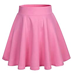 ★Material: 95% Polyester, 5% Elastane. The fabric is comfy and sturdy stretchy and wrinkle-free ★Style: Elastic waistband and double-stiched flared bottom hem, this skirt flatters every body type which is flattering and comes in many different colour...