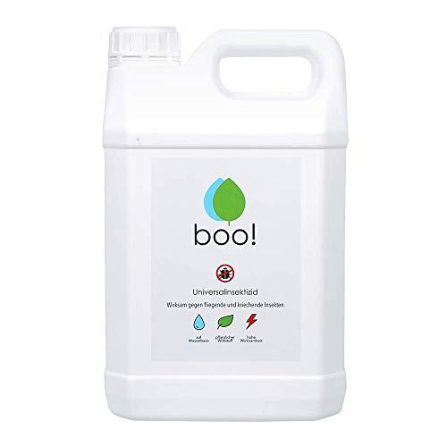 boo! Insektenspray - Insektenschutz als Spray gegen Mücken, Milben, Bettwanzen etc - Insektizid - Pflanzlicher Wirkstoff - 5 Liter