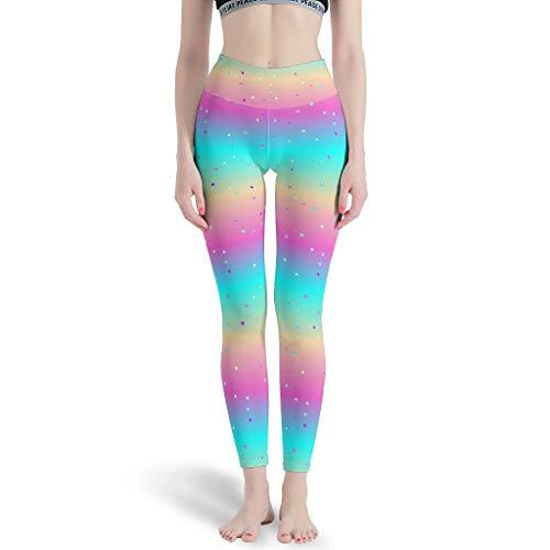HXshqian Rainbow Background Ondoorzichtige joggingbroek voor stretch workout fitness