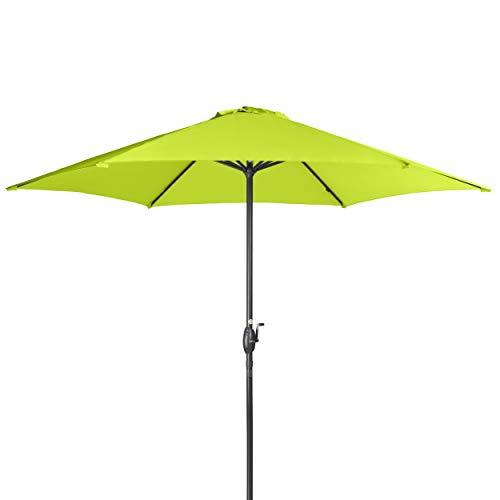 Doppler Derby Basic Lift NEO 300 cm - Großer, runder Sonnenschirm für den Garten - Mit Kurbel - Regenabweisend - ca. 300 cm - Apfelgrün
