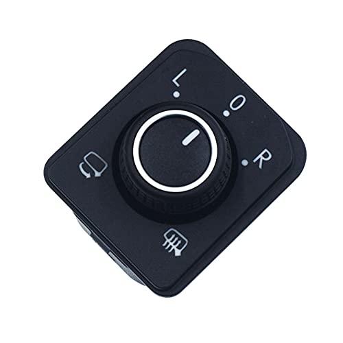 ZHENGYI Coche eléctrico Espejo Plegable Espejo retrovisor Apto para Passat tiguan (Color : Black)