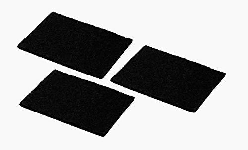 SILVERLINE AFP-SET 703 Set Aktivkohlefilter-Pad (bis zu 3 x waschbar) / Dunstabzugshaubenzubehör/Filter