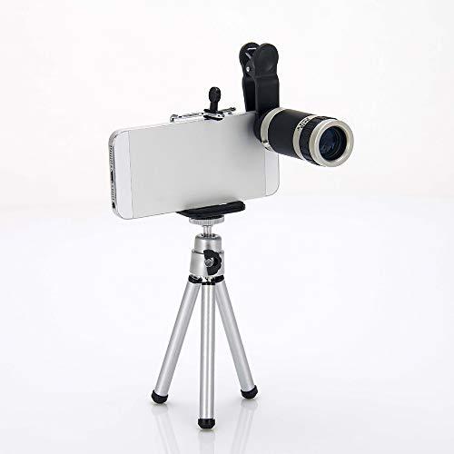 DKEE Binoculars Smartphone Universal-8-mal Mobiles Teleskop/High-Power-HD Foto Einzelne Röhre Gläser Eingestellt