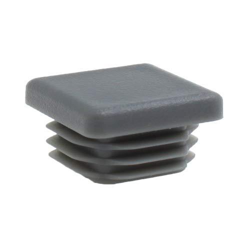 16 Piezas - Todos los Tamaños - Tapas Plásticas Cuadradas - Insertos de Tubos Para las Patas de la Mesa, Sillas, Muebles (19mm, Gris) - por Lifeswonderful