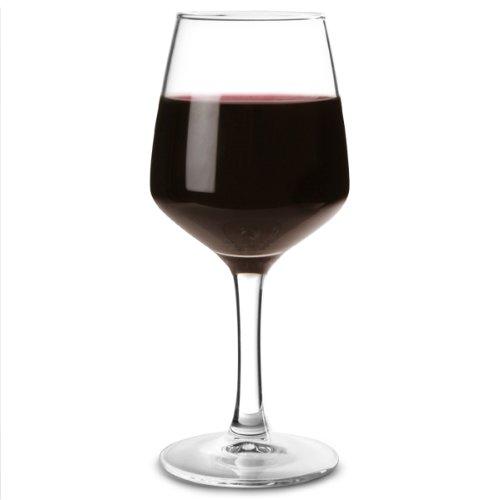 Vasos de vino linea de 175 ml con forro y certificado CE – Pack de 6 copas de vino de 250 ml, copas de vino de 25 cl, copas de vino tinto, copas de vino blanco, vidrio endurecido