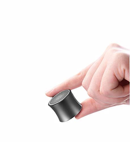 JXFS Kabelloser Mini-Bluetooth-Lautsprecher mit individuellem Bass-Kühler Klein, Aber laut, die nächste Generation tragbarer Lautsprecher für Auto, Fahrrad, Haus, Außenbereich und Dusche-Darkgray