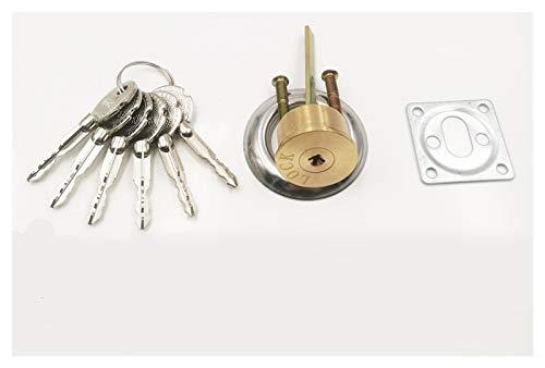 SONGYG Bombin Cerradura Interruptor de Puerta de Cobre Cerradura de Cilindro con Llave 6 Rotary for la Puerta Cerradura de Cilindro de Piezas de Repuesto de Hardware (Color : B)