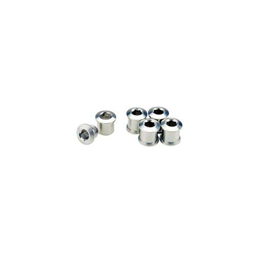 GIZA PRODUCTS(ギザプロダクツ) チェーンリング フィキシングボルト シルバー 7mm 5個 セット YCK00201