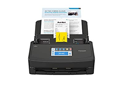 ScanSnap iX1500 Black Document Scanner – Desktop, A4, Double Sided with WiFi, Touchscreen, USB 3.1