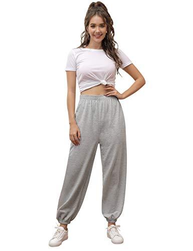 Kate Kasin Pantaloni Donna Invernali Pantaloni Ginnastica Donna Aderenti Pantalone Donna Tuta Grigio XXL