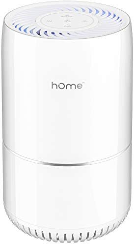 hOmeLabs Purely Awesome Air Purifier with True HEPA Filter – Removes 99.97% of Airborne Particles with H13, Activated Carbon and 3-Stage Filtration to Significantly Improve Indoor Air Quality