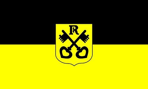 Unbekannt magFlags Tisch-Fahne/Tisch-Flagge: Renningen 15x25cm inkl. Tisch-Ständer