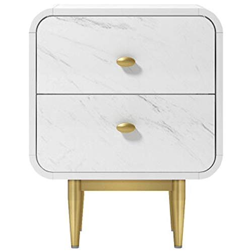 Jia Xing Bedside Table 2 Drawers Bedside Table White Minimalist Modern Bedroom Bedside Table Mini Locker Bedside Table Night Stands for bedrooms