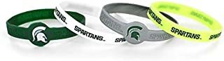 Aminco International NCAA Michigan State Spartans Silicone Bracelets, 4-Pack