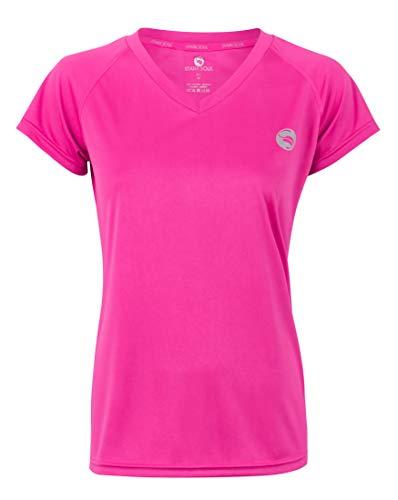 STARK SOUL Camiseta deportiva de manga corta para mujer, transpirable, de secado rápido rosa XL
