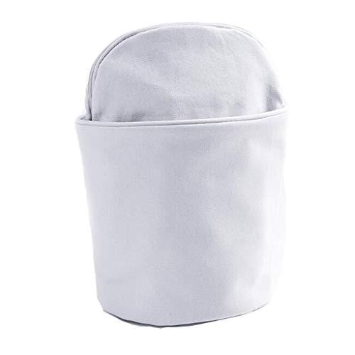 Trousse de toilette Long Sac cosmétique Stockage Séparation Humide et sèche Grande capacité Voyage Multifonctionnel portatif Simple Lavage Universel Multi-Couleur 13.5 * 24 cm MUMUJIN (Color : White)
