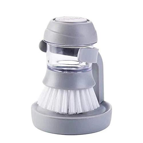 Haoooanqjs Cepillo Cepillo de Lavado de Platos de Tipo de Prensa Cepillo de Cocina Cepillo Utensilios Limpiador Tipo de Prensa No-Palo Robot de Aceite Lavavajillas hidráulicas (Color : A)