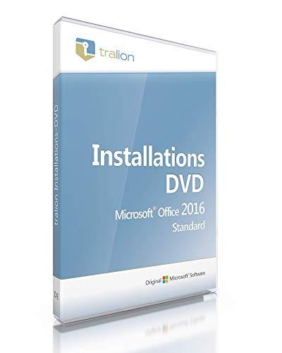 Microsoft® Office 2016 Standard inkl. Tralion-DVD, Unternehmenslizenz, inkl. Lizenzdokumente, inkl. Key, Audit-Sicher, 32bit/64bit, deutsch