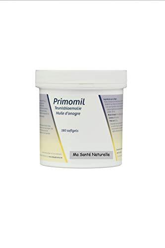 primomil 1000mg (Omega-6)–Nachtkerzenöl (1ière kaltgepresst) + Vitamin E (als D)–180sotfgels/Kapseln MOLLES