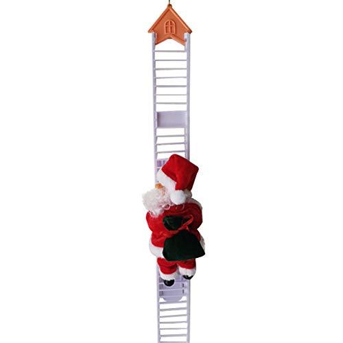 Meyerlbama Christmas Decoration Santa Claus Electric Climbing Hanging Xmas Ornament Toys