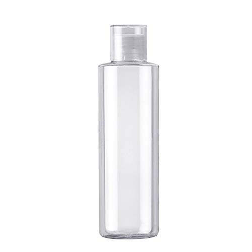 JUNGEN Botella de Viaje, 250ml Botella Transparente de Plástic Rellenable Botellas Frascos de Cosméticos para Gel, Shampoo, Crema, Loción