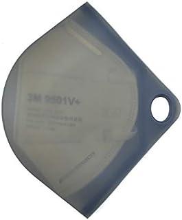 Scatola porta maschera, per mantenerla pulita e igienica, si chiude ermeticamente, realizzata in silicone. NERO (Blu) (Blu)