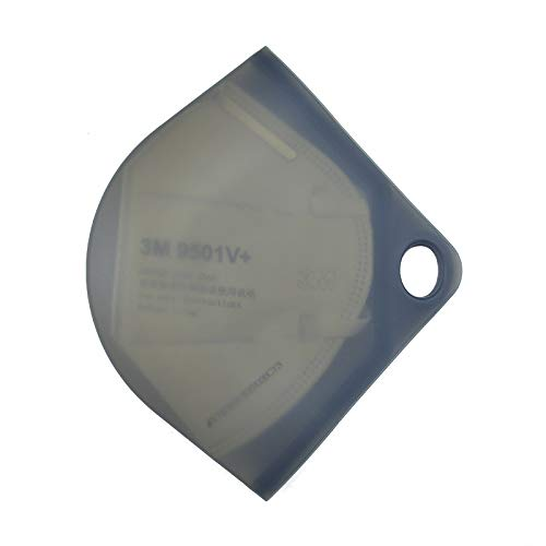 Caja Porta Mascarillas, para Mantenerla Limpia e Higiénica, cierra hermética, hecha en silicona. (Negro)